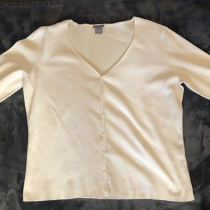 Ann Taylor Off-white cardigan style top